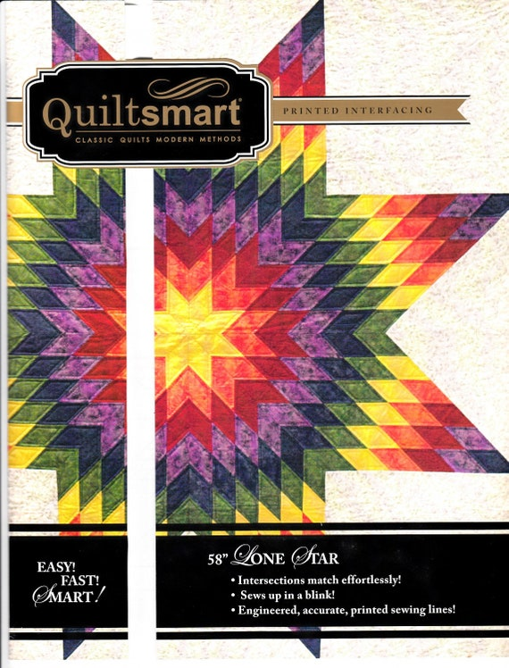 Quiltsmart 58 Lone Star Classic Pack Lone Star Quilt Etsy