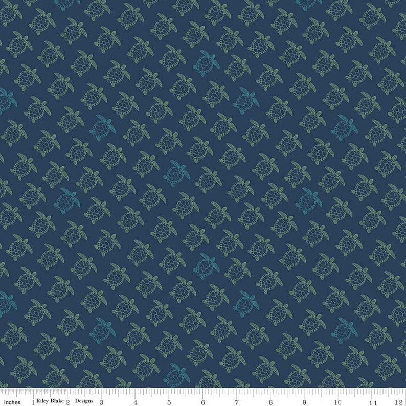 Riley Blake RP-7980-40 Retro Beach Coastal Jelly Roll Fabric Strip Roll Offshore 2 Rolie Polie Jelly Roll Precut 2.5 Inch Fabric Strips