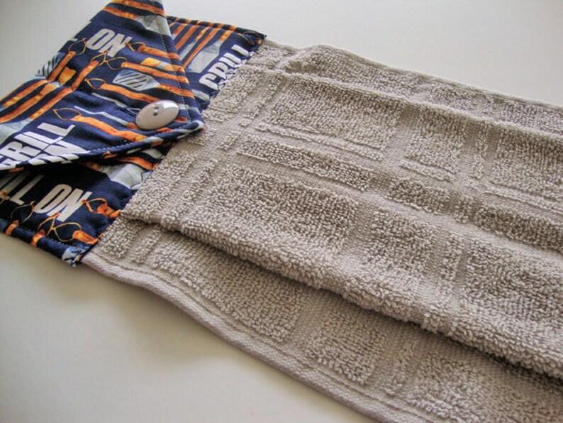 grey hanging kitchen dish towel grill on bbq dish towel | etsy