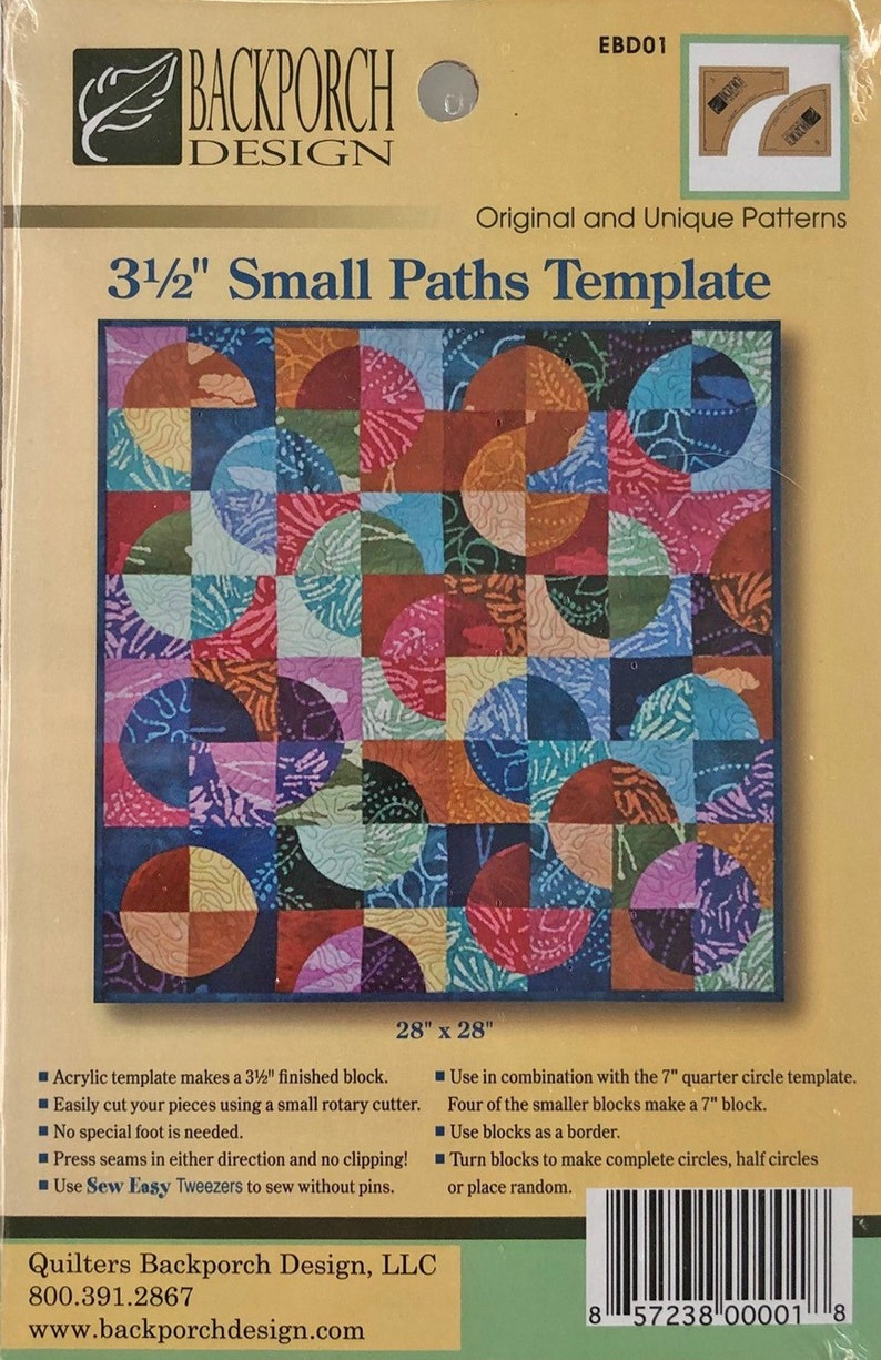 3 5 Inch Small Paths Template Drunkard S Path Etsy