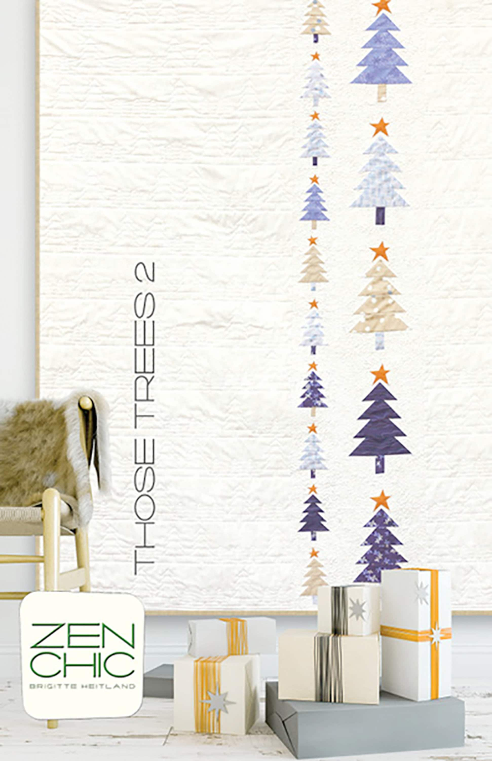 Those Trees 2 Quilt Pattern Modern Christmas Tree Quilt Etsy