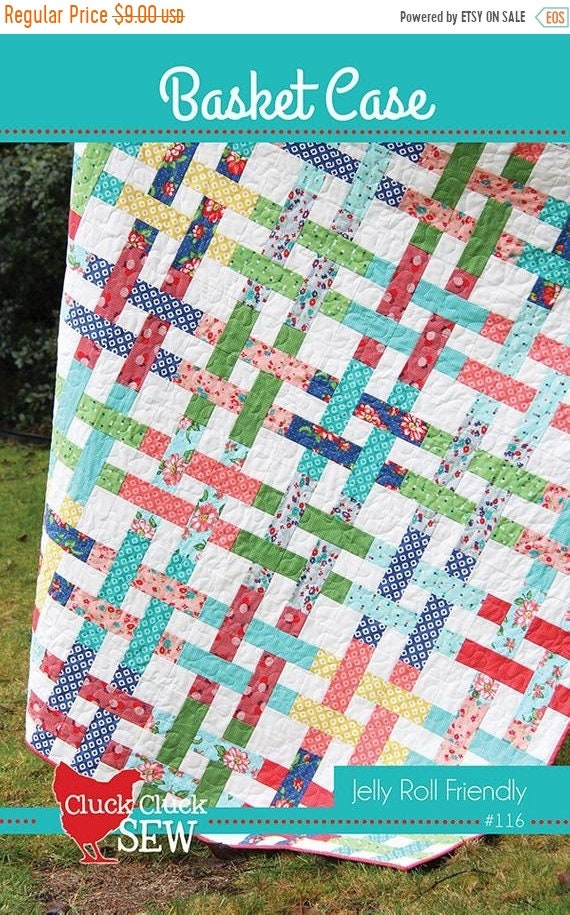 SALE Basket Case Quilt Pattern Cluck Cluck Sew 60 Jelly Etsy Enchanting Basket Weave Quilt Pattern