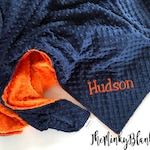 Personalized baby blanket, 28 x 36 CREATE YOUR OWN, Choose your Color and Print, Minky Blanket