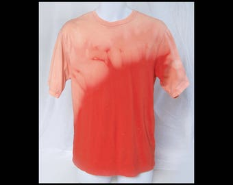 19d74beb985b Acid washed small shirt Falls Creek tee bleached NOT tie dye orange solar  flare sunburst fire volcano eruption flame t-shirt (shirt no.126)