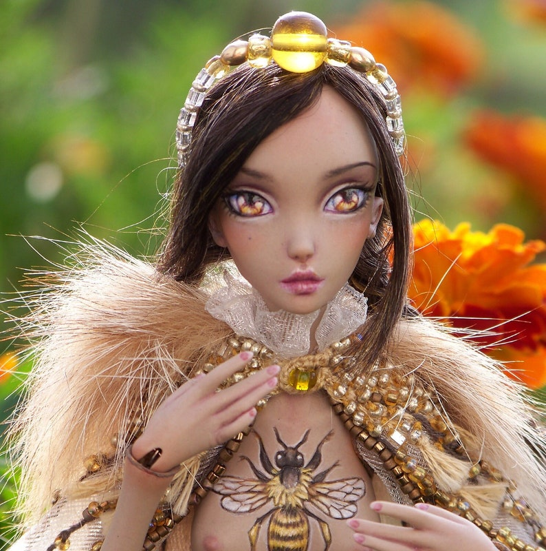 Queen Bee  porcelain ball jointed doll in playscale with image 0