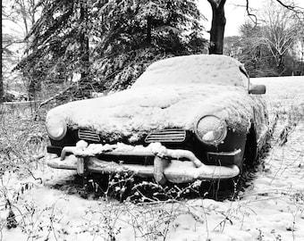 Snow Covered Karmen Ghia VW Sport