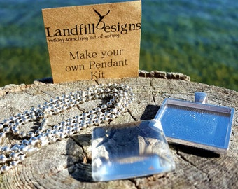 Carry your world, I'll carry your world - Photo pendant kit - two kits