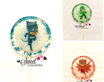 Inspired Masks Lollipops-Hard Candy Lollipops- Birthday- Party-Favors- Babyshower