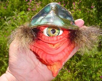 Original stoneware cyclops creature