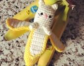 Bananya Banana Cat Amigurumi Toy