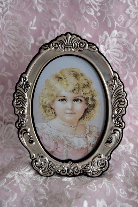 Vintage Silver Victorian Style Frame Picture Photo 1928 Etsy
