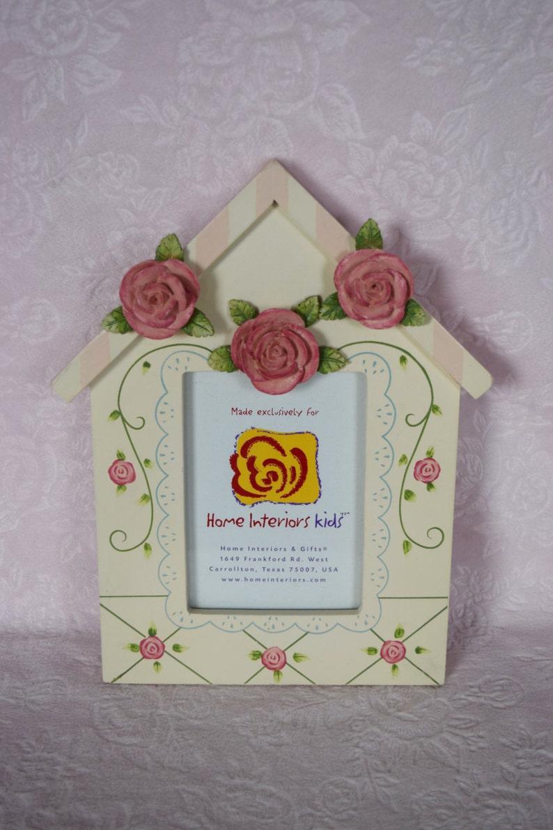 90eddb66ea6 Homco HOUSE PICTURE FRAMES Victorian Cottage Pink Rose Set of