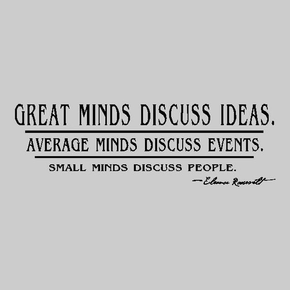 Great Minds Discuss Ideasspirational Wall Decal Removable Etsy