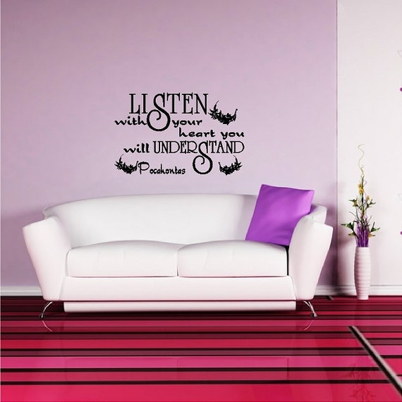 Listen With Your Heart Inspirational Wall Quotes Sayings Words Etsy