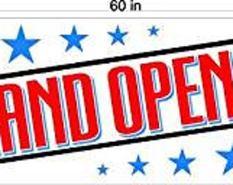 Grand Opening Banner Sign, Store Sale Banner, Shop Sale Advertising Store Opening