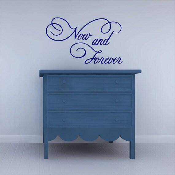 Jetzt Und Für Immer Schlafzimmerliebe Wandtattoo Sprüche Worte Sprüche Schriftzug Art Abnehmbare Hause Decals