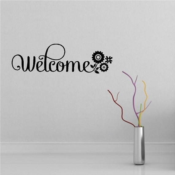 Foyer Paint Quotes : Welcome entryway wall quotes words sayings removable foyer