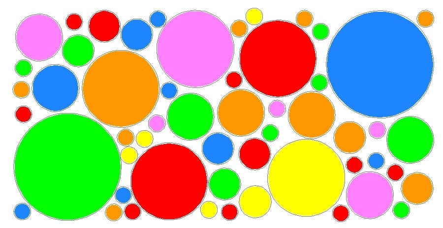 52 Peel And Stick Multi Colors Polka Dots Stickers Decals