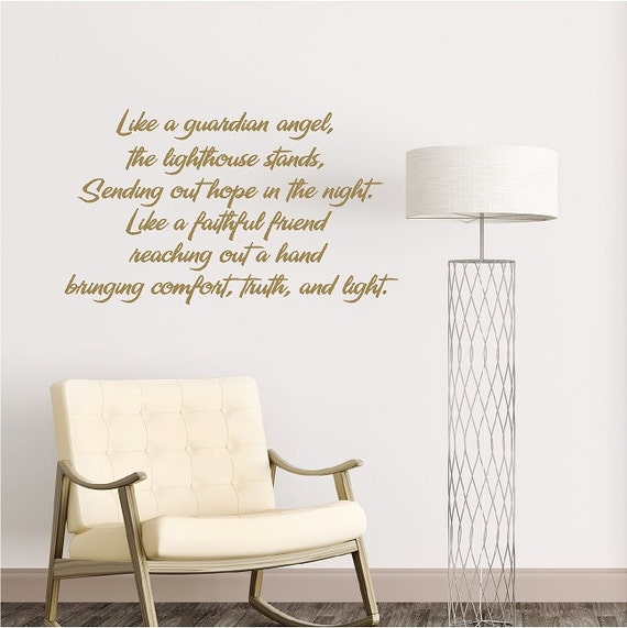 Guardian Angel Quotes | Like A Guardian Angel The Lighthouse Inspirational Wall Quotes Etsy