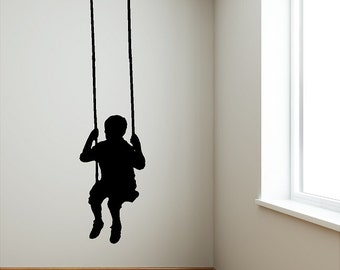 Swinging Child Wall Decal Removable Wall Sticker