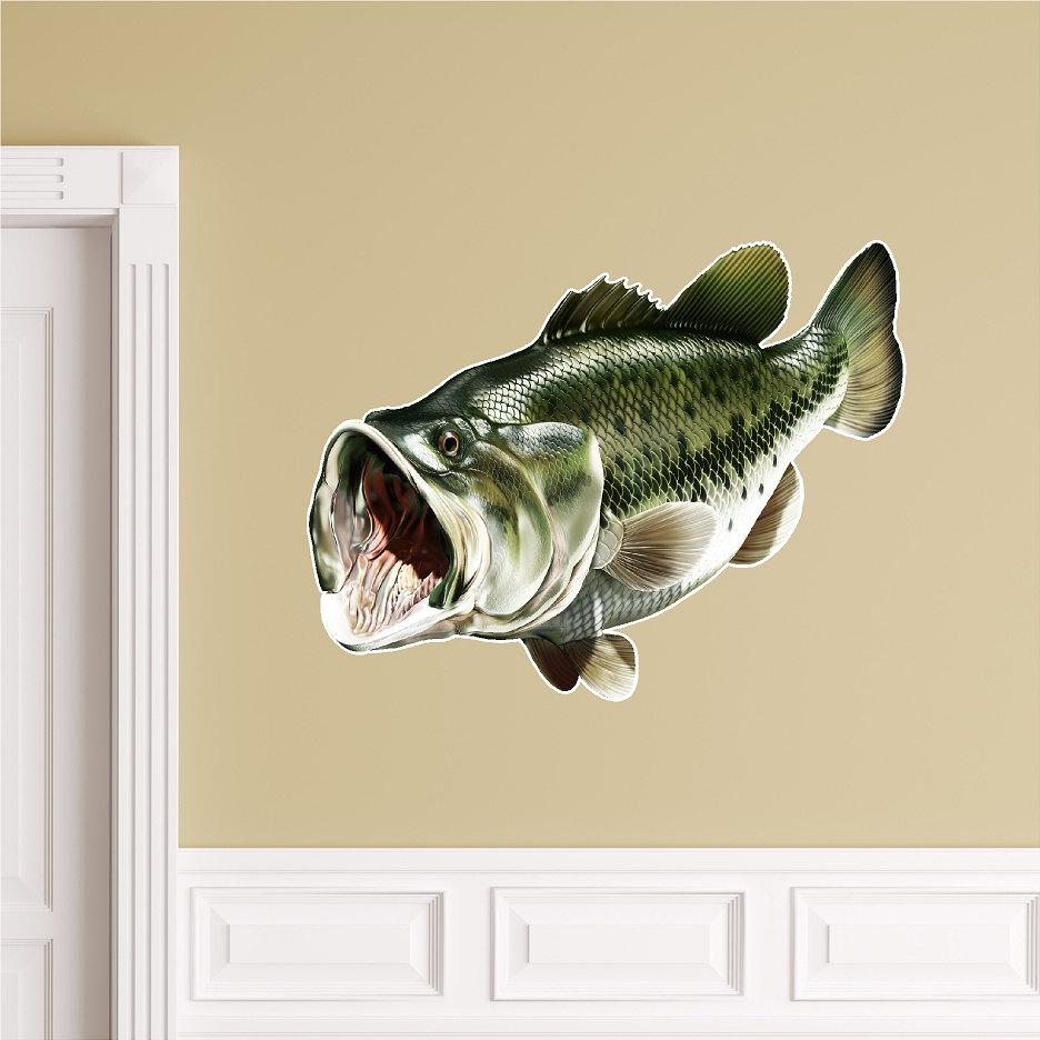 Forellenbarsch 1 Wand Aufkleber Abziehen Und Stick Fisch