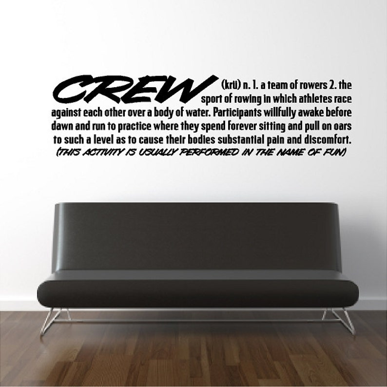 Crew Definition Rowing Wall Quotes Sayings Words Lettering
