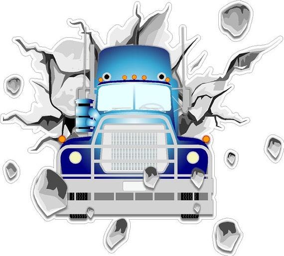 Huge Decal Trailer Mack Truck Decal Semi Wall Art Sticker Window Truck