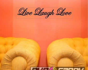 """Live Laugh Love...Peel and Stick Family Wall Quotes Words Sayings Removable Wall Lettering Stickers ( 5"""" x 24"""")"""