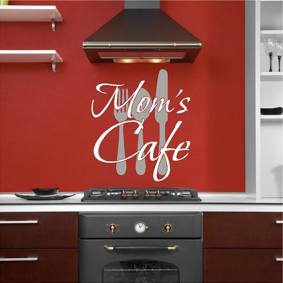 Mom S Cafe Kitchen Wall Decal Removable Kitchen Wall Sticker Lettering