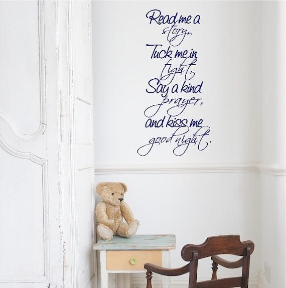 Lesen Sie mir eine Geschichte... Kinderzimmer Wandtattoo | Etsy