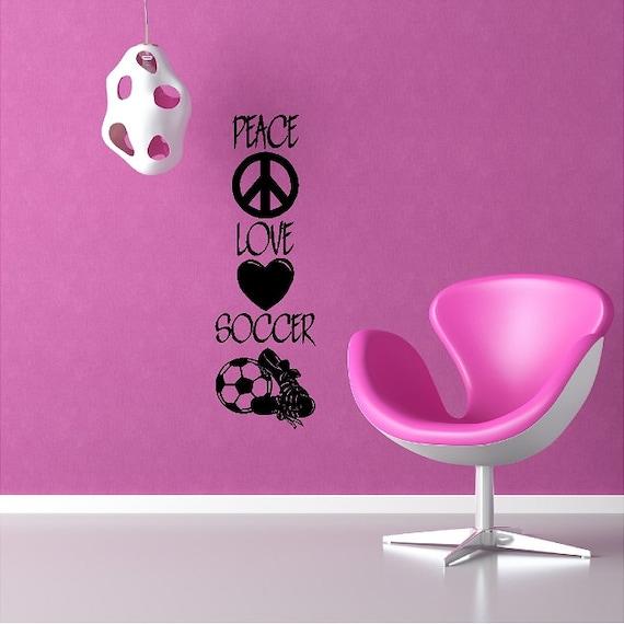 Frieden Liebe Fussball Wand Aufkleber Zitate Worte Spruche Abnehmbare Fussball Wandaufkleberaufkleber Schriftzug Artikel