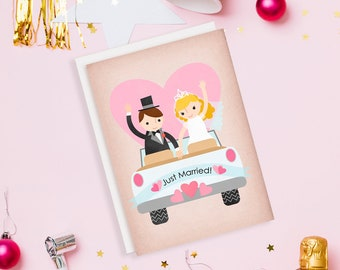 Just Married Wedding Car Card