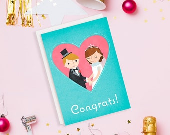 Bride and Groom Newly Weds Card