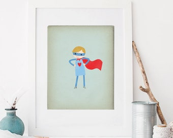 Super Hero Boy, Custom Portrait, Super Boy, Super Hero Birthday, Kids Portrait, Superhero, Super Hero Decor, Custom Hero Boy, Boy Super Hero