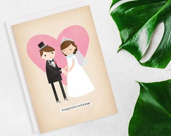 Bride & Groom Congratulations Wedding Card