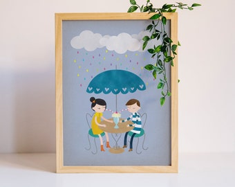 Rainy Day Love 2 Art Print