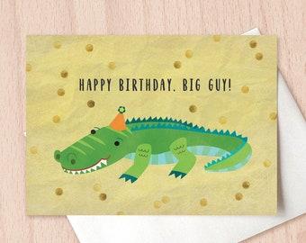 Happy Birthday Big Guy - Birthday Greeting Card, Birthday Card for Dad, Boy's Birthday Card, Children's Birthday Card, Card for Him