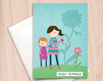 Happy Birthday Growing Flower - Sisters - Best Friends - Daughter's Birthday - Love Card - Birthday Greeting Card