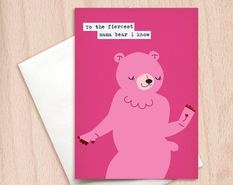 Fiercest Mama Bear Card