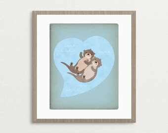 Otterly Lovely -  8x10 Archival Art Print