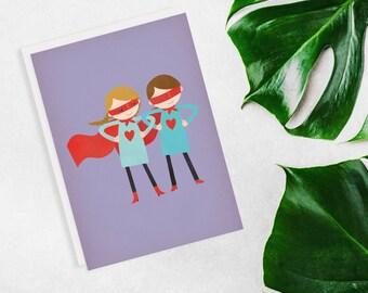 Super Hero Couple Card