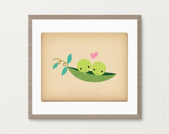 Just Two Peas in a Pod -  Archival Art Print