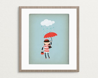 Rainy Day Chic - Customizable 8x10 Archival Art Print