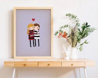 Personalized Art Print, Love Prints, Love Art Print, Art Prints Love, Art Printed, Artwork Prints, Prints Wall Art, Art Wall, Family Art