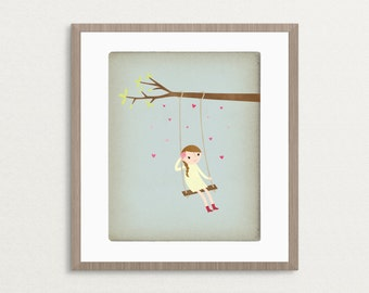 Little Daydreamer -  Customizable 8x10 Archival Art Print