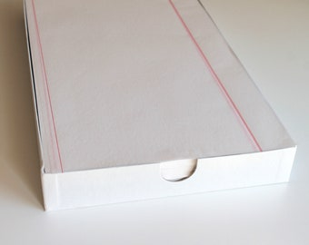 """Vintage Onion Skin Paper with Cockle finish - Eagle-A brand Red legal Ruled 8.5"""" by 13"""""""