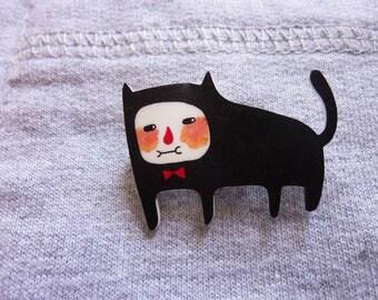 Mr. Cat - Shrink Plastic Brooch
