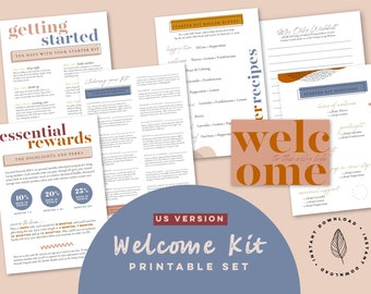 Welcome Kit ~ US Young Living Premium Starter Kit Pack ~ Printable ~ Diffuser Blends, Roller Blends, Recipe Cards ~ Essential Oils Business