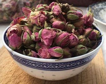 Dried rose buds, 1oz / 28g or 2oz, for wedding favours, skincare, soapmaking, fragrance, wellbeing, natural dried flower petals
