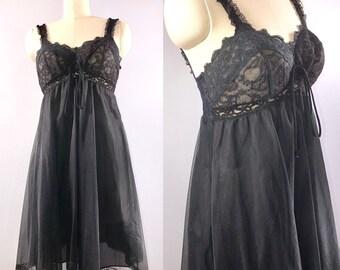 248b940f42e Olga 9100 60s nightgown Vintage 1960s Short Babydoll Nightie 36 bust small  built in bra Sexy Boudoir super cute